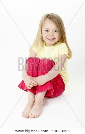 Young Girl Sitting In Studio