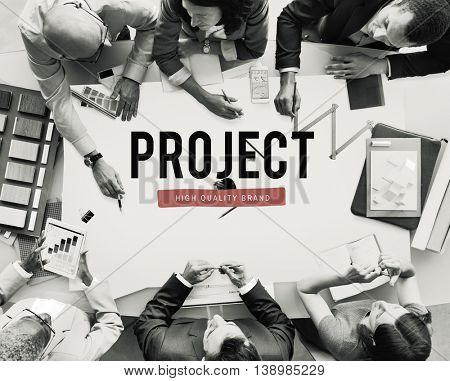 Project Progress Business Managment Plan Concept