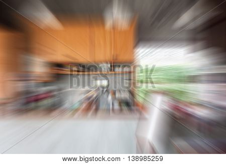Abstract blur coffee shop background, stock photo