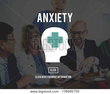 Anxiety Disorder Apprehension Medical Concept poster