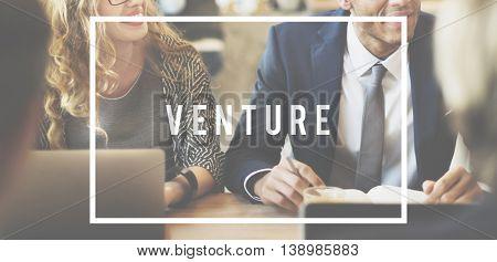 Venture Entrepreneur Funding Investing Money Concept
