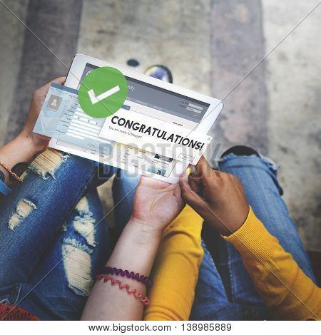 Congratulation Achievement Admiration Victory Concept