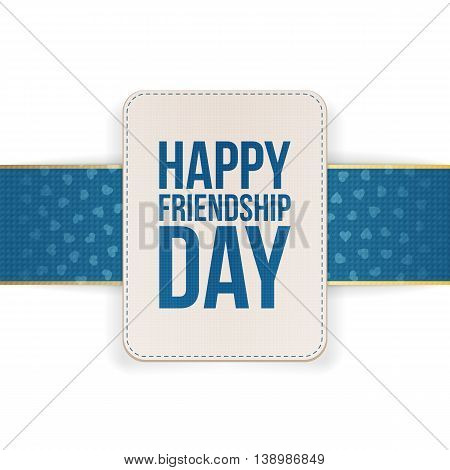Happy Friendship Day Sale special Banner. Vector Illustration