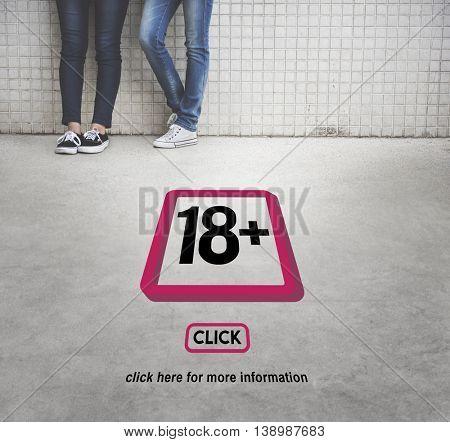 Eighteen Plus Adult Explicit Content Warning
