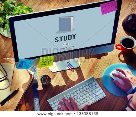 Study Education Academic Knowledge Book Concept