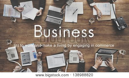 Business Commercial Company Corporate Growth Concept