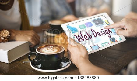 Web Design Browsing Technology Connection Icon Concept