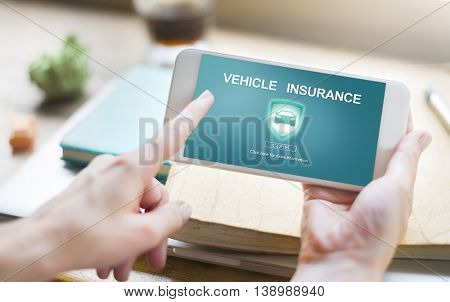 Vehicle Insurance Accident Damage Protection Concept