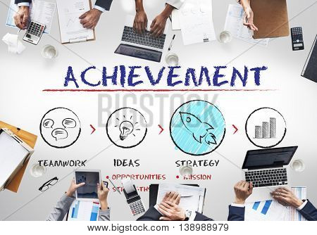 Achievement Business Plan Growth Strategy Concept