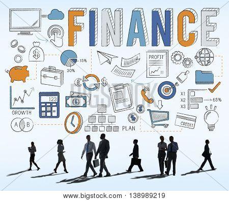 Finance Economics Savings Money Credit Concept