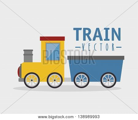 toy train isolated icon design, vector illustration  graphic