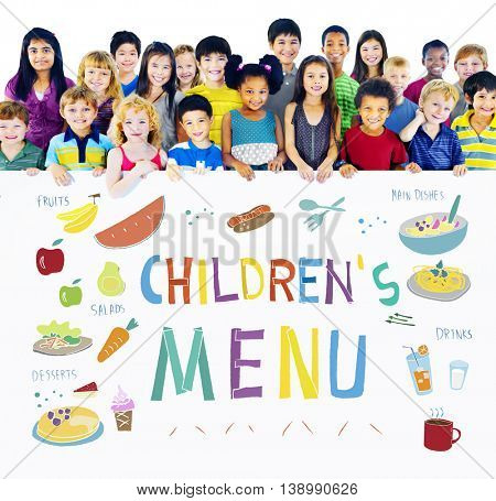 Kids Menu Food Recipes Cuisine Concept