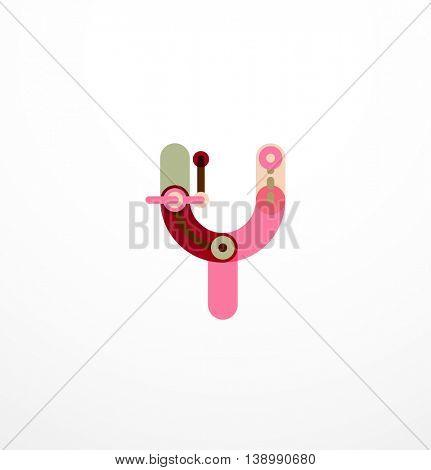 Vector letter - technology minimal design