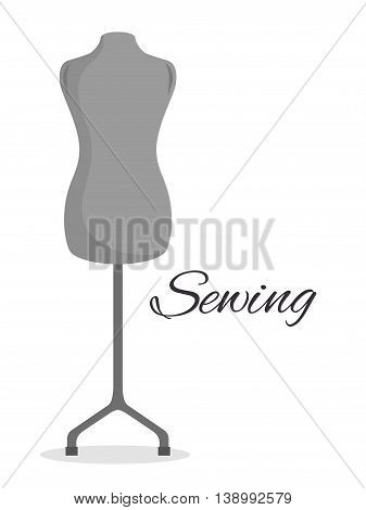 manikin couturier isolated icon design, vector illustration  graphic