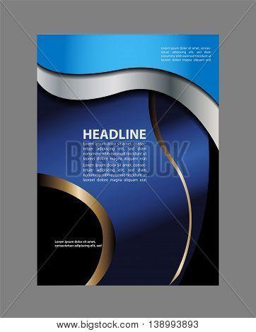 Brochure flyer background. blue Flyer or Cover Design - Business Vector