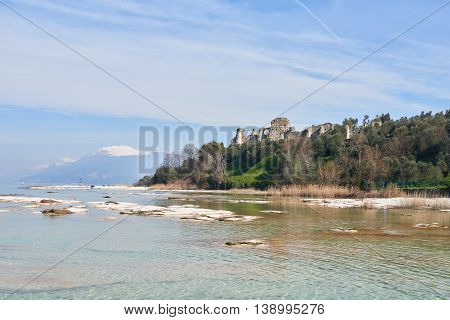 Grottoes Of Catullus And Lake Garda In Sirmione