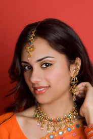 Indische Frau im Sari
