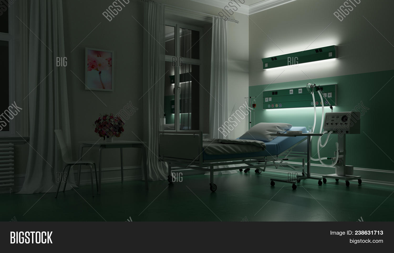 Empty Bed Hospital Image Amp Photo Free Trial Bigstock