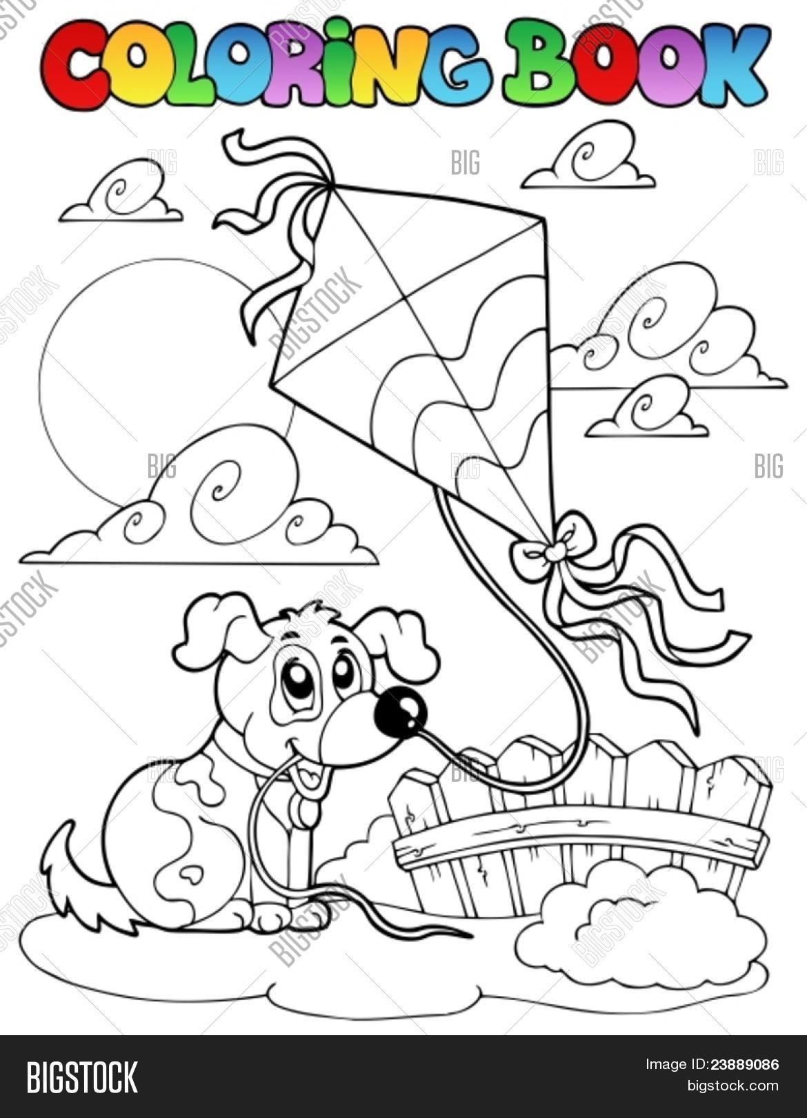 coloring book dog vector  photo free trial  bigstock