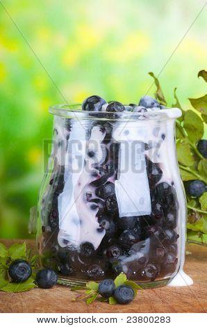 bilberry  yoghurt