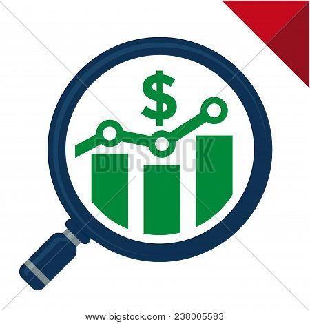 Icon Vector Illustration With Benefit Analyzes Concept, For Business Finance / Marketing, Illustrate