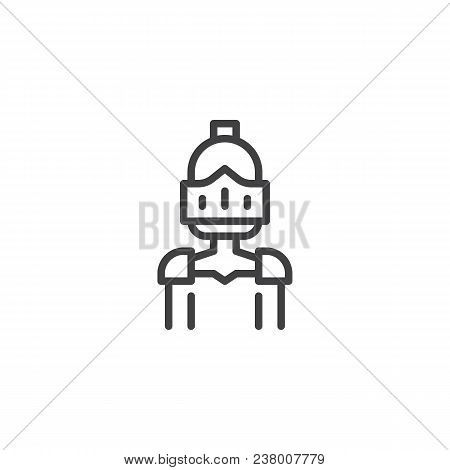 Knight Outline Icon. Linear Style Sign For Mobile Concept And Web Design. Warrior Knight Simple Line