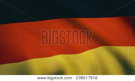 Beautiful 3d Animation Of Germany Flag In Loop Mode. Germany Flag Background. Stylized Flag Of Germa