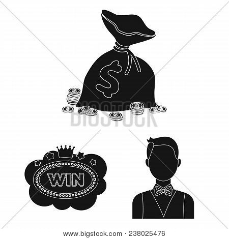 Casino And Gambling Black Icons In Set Collection For Design. Casino And Equipment Vector Symbol Sto