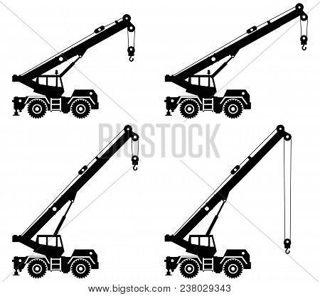 Silhouette Crane Vector Photo Free Trial Bigstock