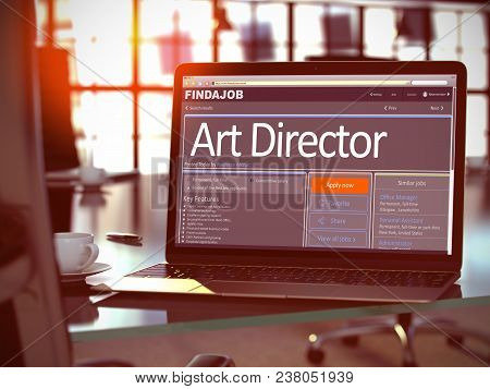 Art Director - Job Searching Concept. Head Hunting Concept. 3d Render.