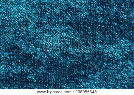 Stylish Saturated Blue Fabric Texture. High Resolution Photo.
