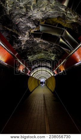 Tunel Constrast With The Light At Night