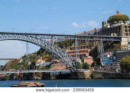The Dom Luís I Bridge (portuguese: Ponte D. Luís I) Is A Double-deck Metal Arch Bridge That Spans Th