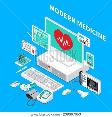 Medical Gadgets Including Pocket Cardiograph, Handheld Ultrasound Scanner, Glucometer, Thermometer,