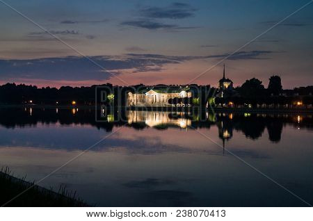 Fantastic Night View. Ensemble Of The State Reserve Museum Kuskovo, Former Aristocratic Summer Count