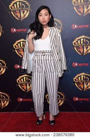 LOS ANGELES - APR 24:  Awkwafina arrives for the Warner Bros panal at CinemaCon 2018 on April 24, 2018 in Las Vegas, NV