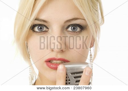 Woman And Microphone