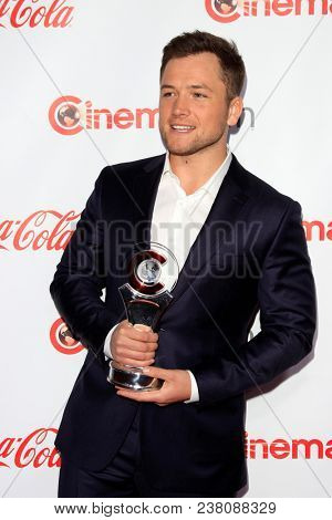 LAS VEGAS - APR 26:  Taron Egerton at the 2018 CinemaCon - Awards Gala at Caesars Palace on April 26, 2018 in Las Vegas, NV