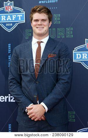 ARLINGTON, TX - Sam Darnold attends the 2018 NFL Draft at AT&T Stadium on April 26, 2018 in Arlington, Texas.