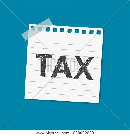 Tax notice sticky note illustration