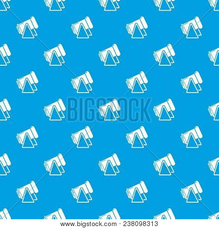 Battle Cannon Pattern Vector Seamless Blue Repeat For Any Use