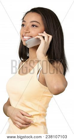 Woman Female Girl Teenager Teenage Young Talking On Phone