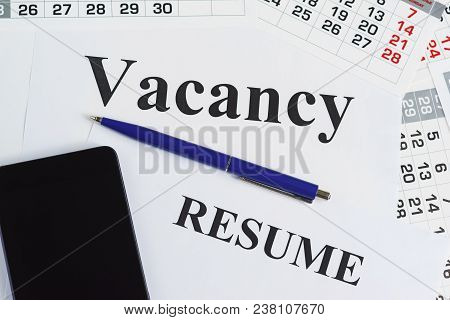 Search For A New Job. Job Search And Job Interview Calls