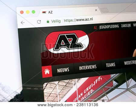 Alkmaar, The Netherlands - March 27, 2018: Homepage Of Alkmaar Zaanstreek Better Known As Az Alkmaar
