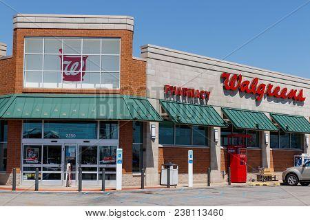 Muncie - Circa April 2018: Walgreens Retail Location. Walgreens Is An American Pharmaceutical Compan