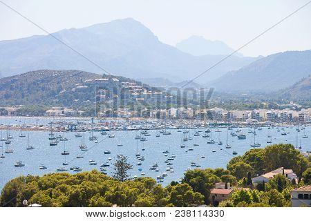 Port De Pollenca, Mallorca, Spain - Plenty Of Boats At The Sea Port Of Port De Pollenca
