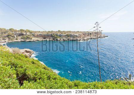 Cala Figuera De Santanyi, Mallorca, Spain - Feeling Freedom At The Coastline Of Santanyi