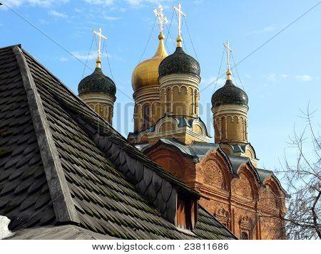 Znamensky temple. Chambers in Zaryadye. Moscow Russia poster