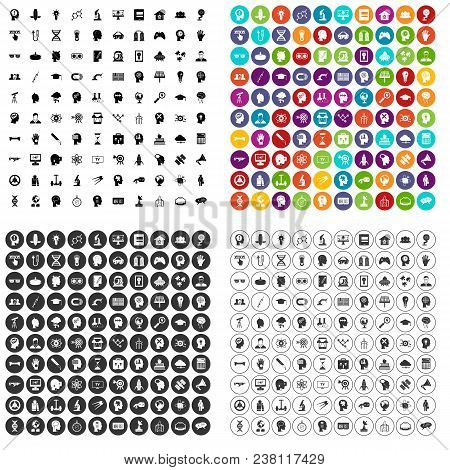 100 Invention Brainstorm Icons Set Vector In 4 Variant For Any Web Design Isolated On White