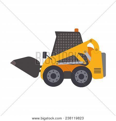 Skid Steer Loader Vehicle. Heavy Construction Machine.vector Illustration Mini-loader Skid Steer Loa